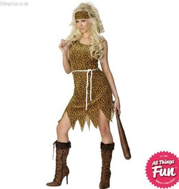 Smiffys Brown Cavewoman Costume