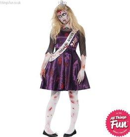 Smiffys *DISC* Teen Zombie Prom Queen Costume