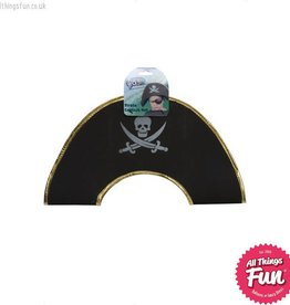 Smiffys Child's Black Pirate Captain Hat with Skull & Crossbones