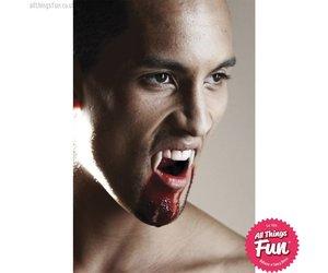 Halloween Dress Up Teeth Scarecrow Werewolf Vampire Extra Long SABRE Fangs