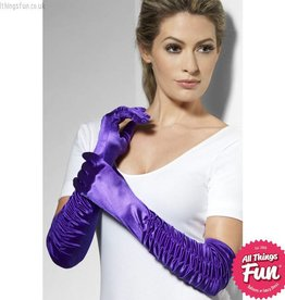Smiffys Long Purple Temptress Gloves