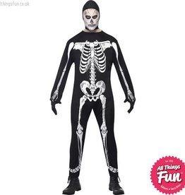 Smiffys Skeleton Jumpsuit Costume