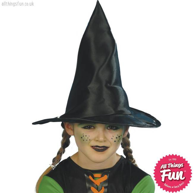 Smiffys Childs Black Witch Hat