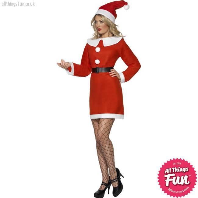 Smiffys Classic Miss Santa