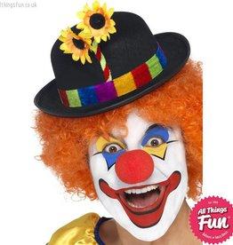 Smiffys Black Clown Bowler Hat