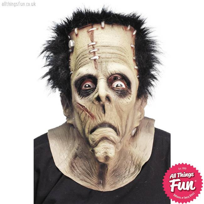 Smiffys Brown Monster Overhead Mask with Hair