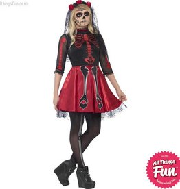 Smiffys Teen Day Of The Dead Diva Costume