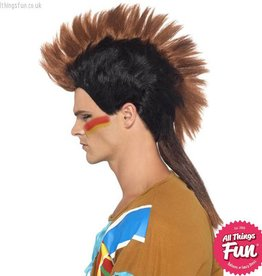 Smiffys *DISC* Indian Male Mohican Wig