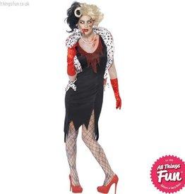 Smiffys *DISC* Zombie Evil Madame Costume
