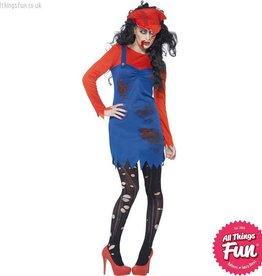 Smiffys Zombie Plumber Female Costume