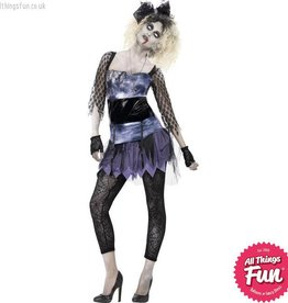 Smiffys *DISC* Zombie 80's Wild Child Costume