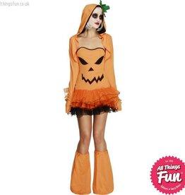 Smiffys *DISC* Fever Pumpkin Costume Tutu Dress