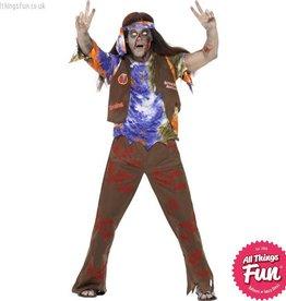 Smiffys Zombie 60's Hippie Costume