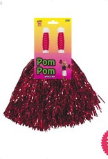 Smiffys Metallic Red Pom Poms