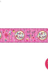 Pioneer Balloon Company Foil Banner - Happy Birthday Perfect Pink