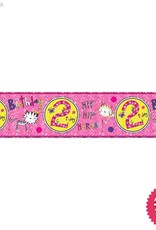 Pioneer Balloon Company Foil Banner - Age 2 Kittens