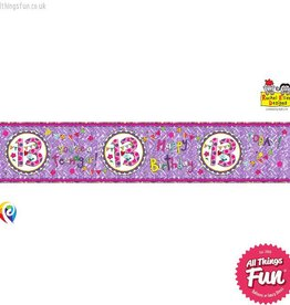 Pioneer Balloon Company Foil Banner - Age 13 Perfect Pink
