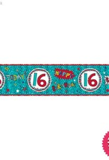 Pioneer Balloon Company Foil Banner - Age 16 Wow