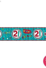 Pioneer Balloon Company Foil Banner - Age 21 Wow