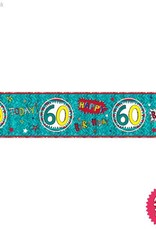 Pioneer Balloon Company Foil Banner - Age 60 Wow