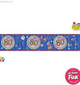 Pioneer Balloon Company Foil Banner - Age 80 Happy Birthday