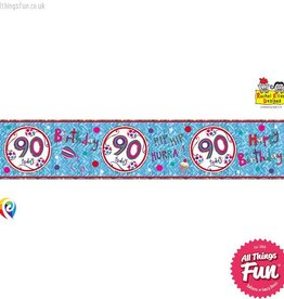 Pioneer Balloon Company Foil Banner - Age 90 Happy Birthday