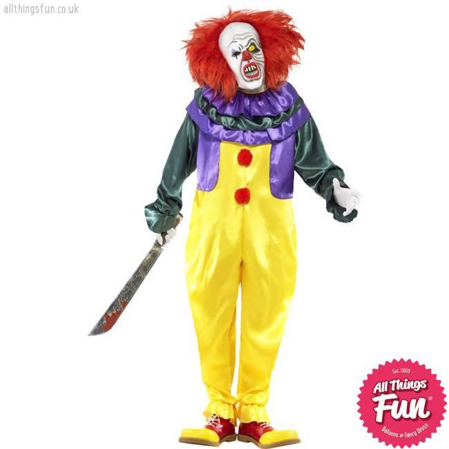 Smiffys *Star Buy* Classic Horror Clown Costume