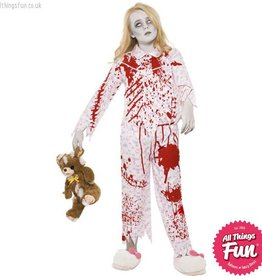 Smiffys Zombie Pyjama Girl Costume