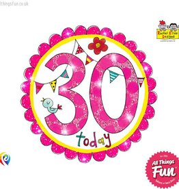 Pioneer Balloon Company Fliter Badge - Age 30 Perfect Pink