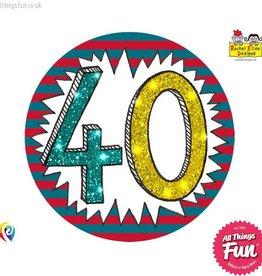 Pioneer Balloon Company Fliter Badge - Age 40 Wow