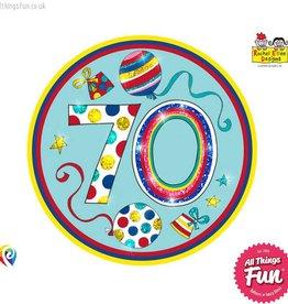 Pioneer Balloon Company Fliter Badge - Age 70 Happy Birthday