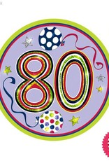 Pioneer Balloon Company Fliter Badge - Age 80 Happy Birthday