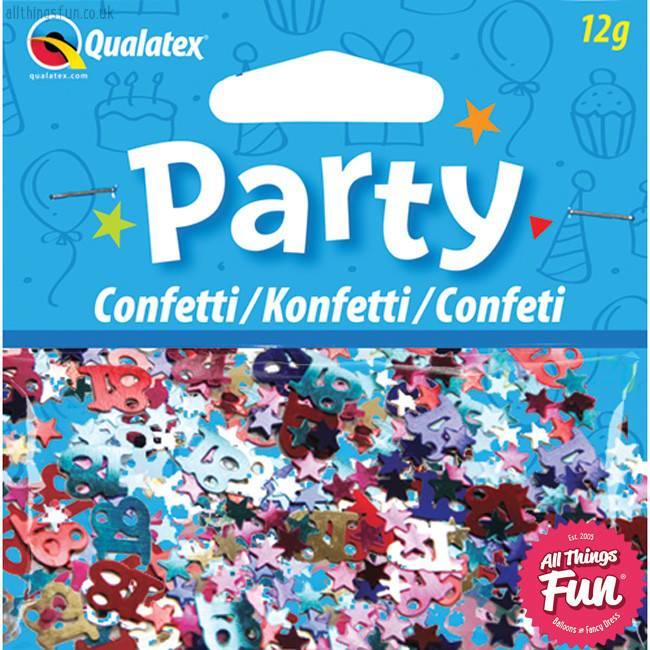Pioneer Balloon Company Confetti - Age 18 Multi-Coloured Birthday
