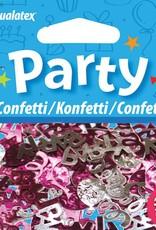 Pioneer Balloon Company Confetti - Party Swirls Pink & Silver