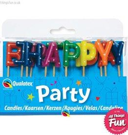 Pioneer Balloon Company Candles -Happy Birthday Multi-Coloured