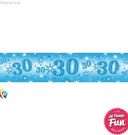 Pioneer Balloon Company Foil Banner - Age 30 Blue Sparkle