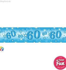 Pioneer Balloon Company Foil Banner - Age 60 Blue Sparkle