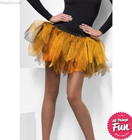 Smiffys *DISC* Orange & Black Pumpkin Princess Tutu