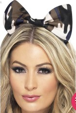 Smiffys *DISC* Camouflage Army Bow on Headband