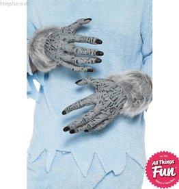 Smiffys *SP* Grey Werewolf Furry Hands