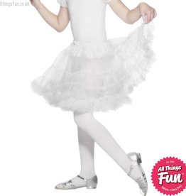 Smiffys Girls White Layered Petticoat
