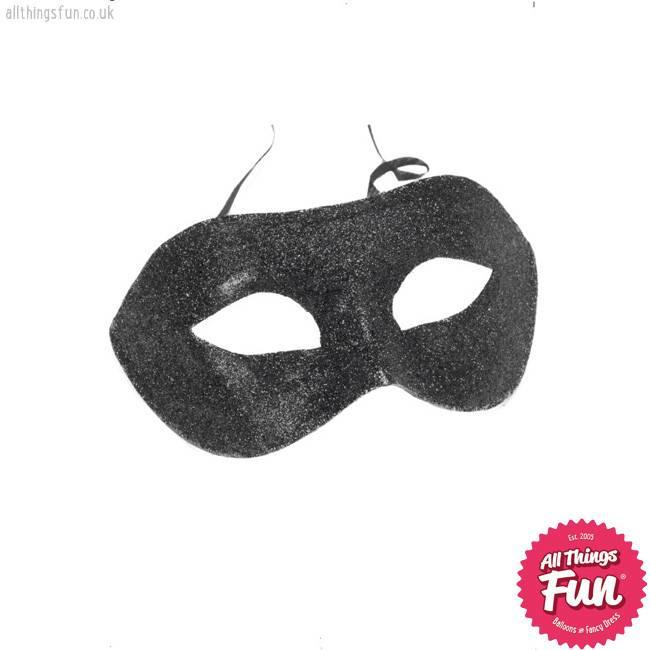 Smiffys Black Glitter Gino Eyemask