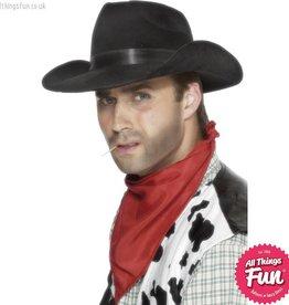 Smiffys *DISC* Black Cowboy Hat