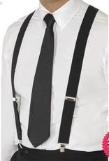 Smiffys Black Elasticated Braces