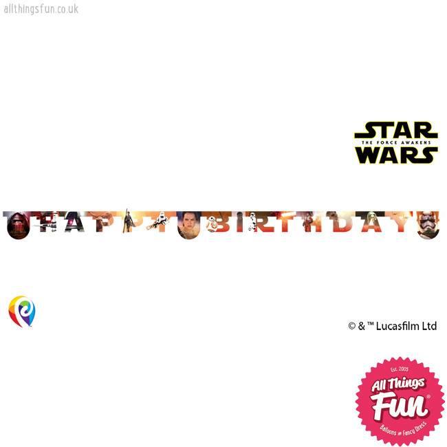 Procos *DISC* Star Wars The Force Awakens - Banner 1Ct - Happy Birthday