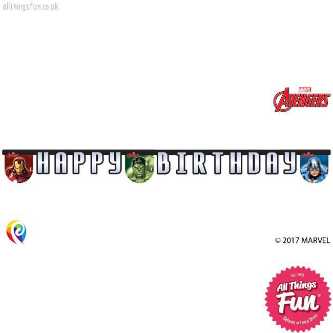 Procos *DISC* Avengers Power - Banner 1Ct - Happy Birthday