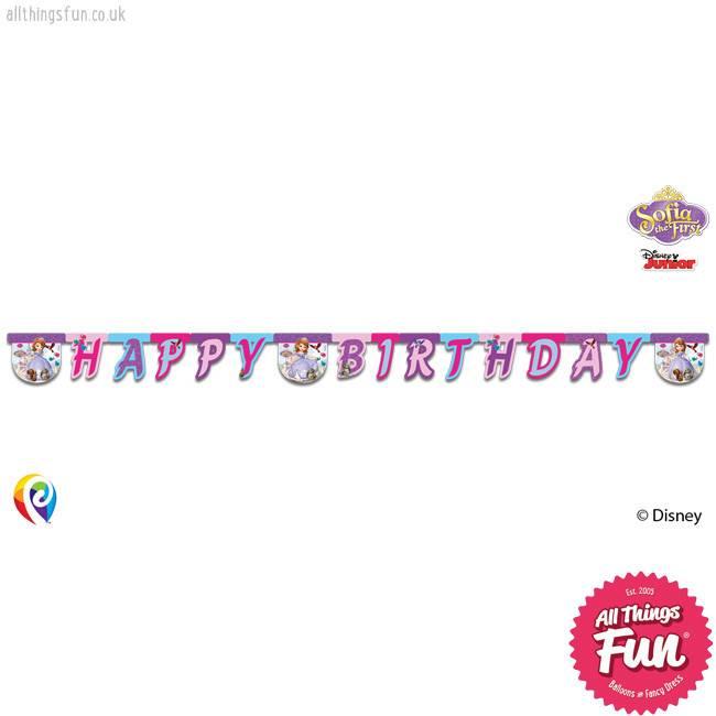 Procos Sofia The First - Banner 1Ct - Happy Birthday