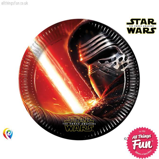 Procos *DISC* Star Wars The Force Awakens - Party Paper Plates 8Ct