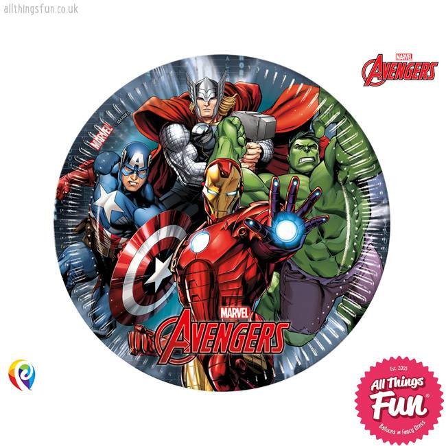 Procos *DISC* Avengers Power - Party Paper Plates 8Ct