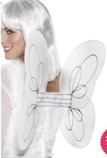 Smiffys White & Silver Glitter Angel Wings